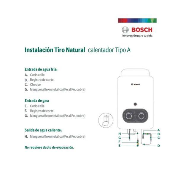 Calentador Bosch kit de instalación